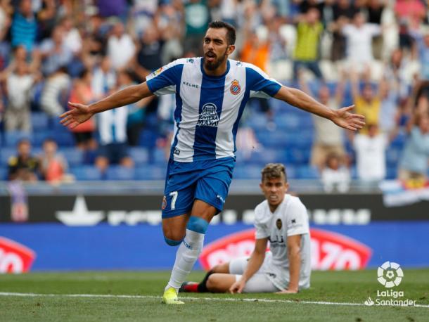 Borja Iglesias, principal amenaza ofensiva del Espanyol. FOTO: La Liga