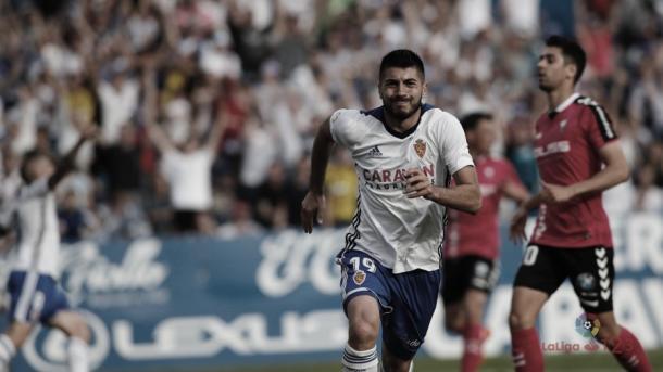 Papu tras su hattrick ante el Albacete | Foto: LaLiga