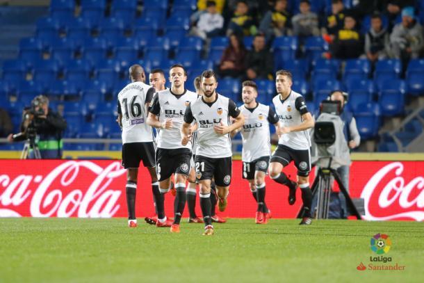 El último partido del Valencia. Fotografía: LaLiga