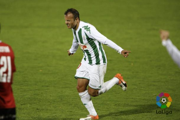 Juli celebra el gol conseguido ante el Mirandés | LaLiga