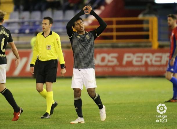 Segundo gol seguido del panameño | Imagen: Real Oviedo