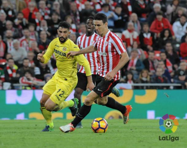 Aduriz (Athletic) vs Villarreal | Foto: La Liga