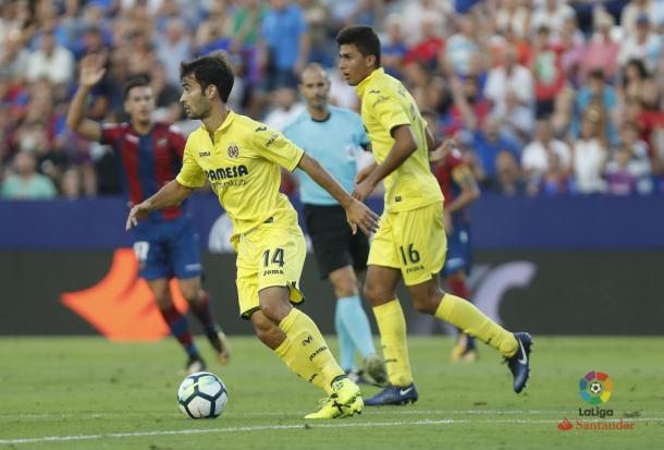 Trigueros y Rodri ante el Levante. Foto: LFP