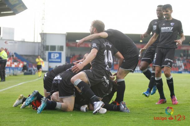 Celebración del gol ante el Lugo | Foto: LaLiga
