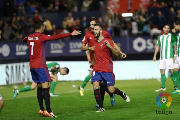 Roberto Torres celebrando un gol | Fotografía: LaLiga