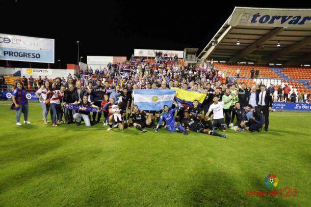 Foto de familia tras el partido ante el Lugo | Foto: LaLiga