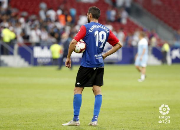 Enric Gallego tras su hat-trick ante el Rayo Majadahonda   Foto: LaLiga