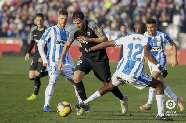 Franco Vázquez se marchó expulsado | Foto: La Liga Santander