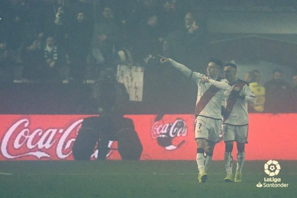Álex Moreno celebrando el primer gol | Fotografía: La Liga