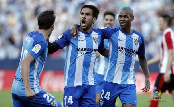 Recio celebra el empate 3-3. | Foto: LFP