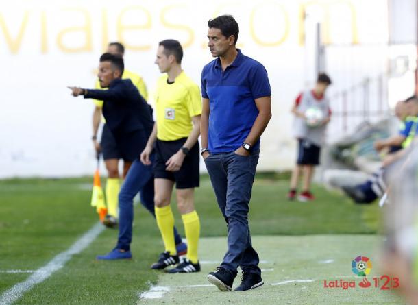 Míchel durante un partido | Fotografía: La Liga