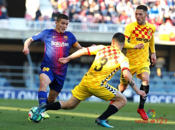 El Barça B quiere mantener sus buenos resultados a domicilio. | Foto: laliga.es