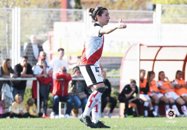 Pilar García dando órdenes | Fotografía: La Liga