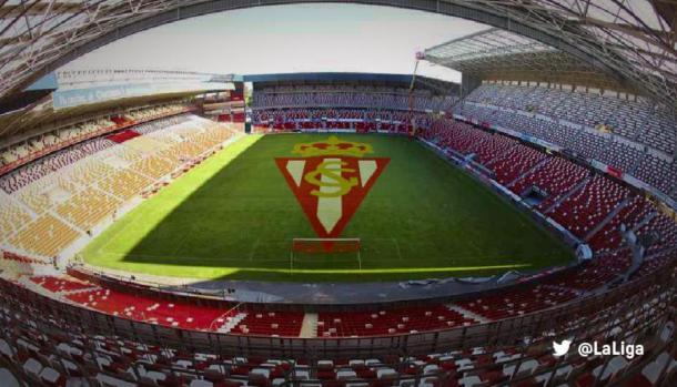 Estadio El Molinón-Enrique Castro Quini en Gijón. | Foto: LaLiga