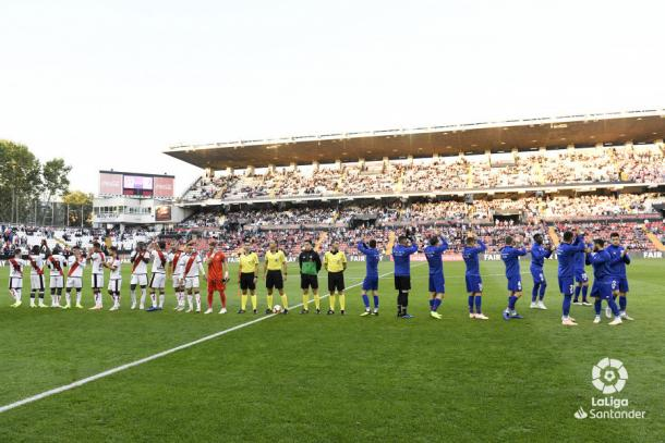 Partido de ida entre el Rayo Vallecano y el Athletic Club. / Fotografía: LaLiga Santander.