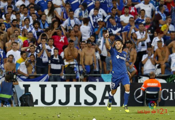 Tercer ascenso a Primera para Dani Pacheco. | Foto: LaLiga
