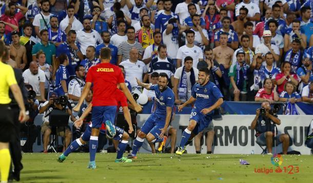 El Getafe ya es equipo de Primera. | Foto: LaLiga