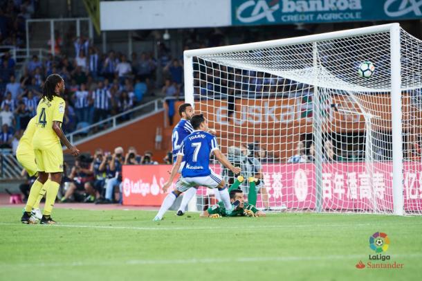 Willian José, marcando el primer gol ante el Villarreal | Imagen: LaLiga