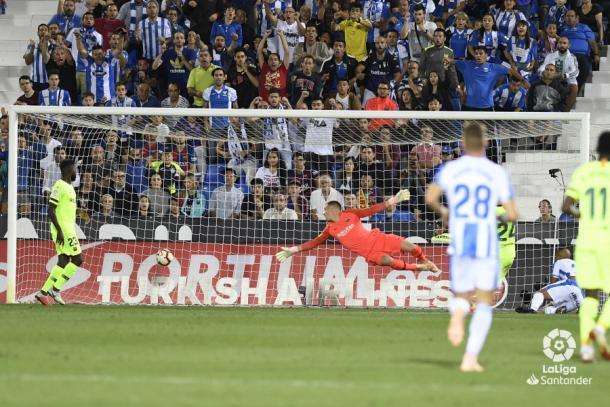 El Zhar anotando el 1-1 en el partido de la primera vuelta   Foto: LaLiga Santander