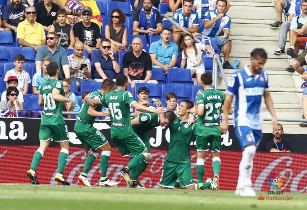 Martín Mantovani celebrando su único gol esta temporada | Foto: LaLiga Santander