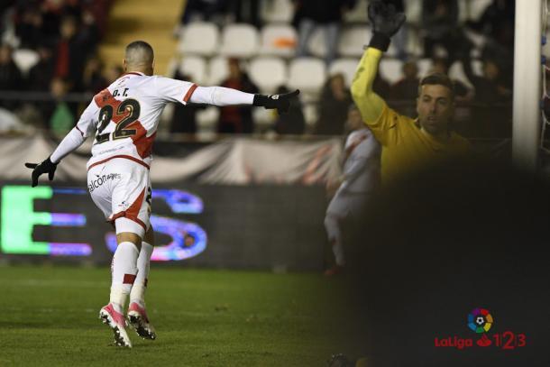Raúl de Tomás celebrando un gol   Fotografía: La Liga
