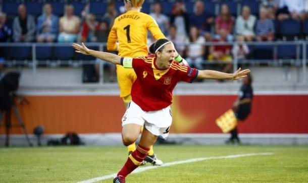 Vero Boquete featuring for Spain | Source: laliga.es