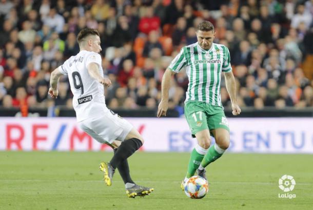 Joaquín ante el Valencia en la vuelta de la Copa del Rey | Foto: LaLiga