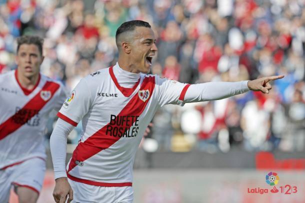 Celebración de un gol de Raúl de Tomás en Segunda División | Foto: LaLliga 123
