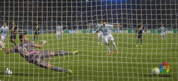 Nolito de penalti pone el 1-0 en el marcador | Foto de LaLiga