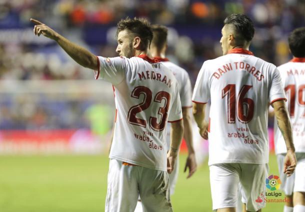 El Alavés ha logrado su única victoria a domicilio contra el Levante     Fotografía: La Liga