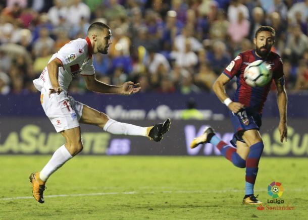 Pedraza fue el mejor ante el Levante     Fotografía: La Liga