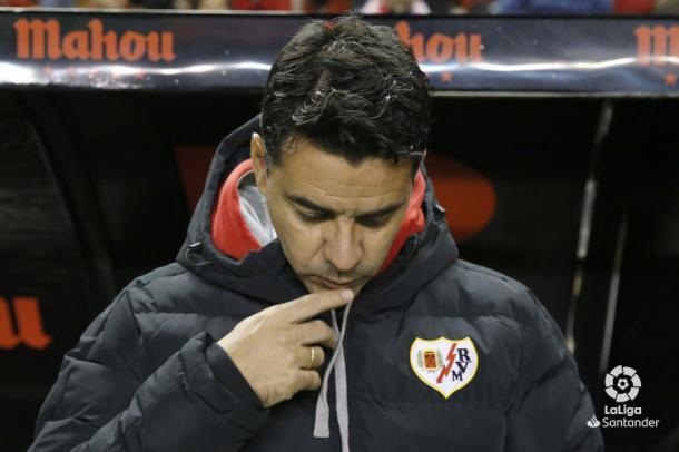 Míchel en el banquillo | Fotografía: La Liga