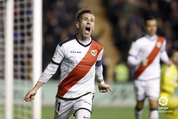 Embarba celebrando su gol | Fotografía: La Liga