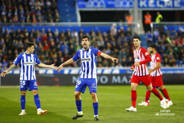 Manu García prostestando   Foto: La Liga Santander