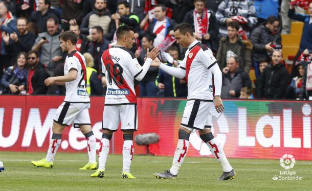 Raúl de Tomás celebrando su gol | Fotografía: La Liga