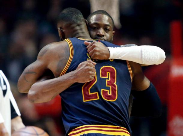 Dwyane Wade and LeBron James are former teammates and longtime friends. Photo: Nam Y. Huh, AP Photo.