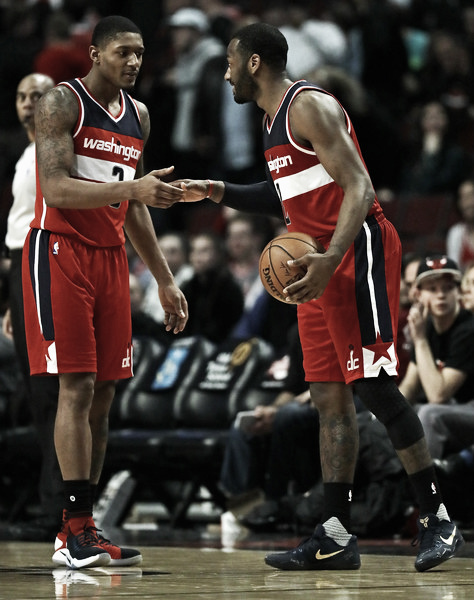 Can Wall and Beal overcome the Wizards shallow bench? Photo: Jonathan Daniel/Getty Images North America