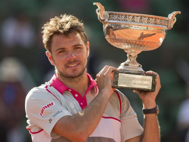 Stan Wawrinka with his trophy after last year's win (Source: Susan Mullane USA Today)