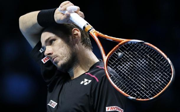It was a bad day at the office for Wawrinka. Photo: Getty