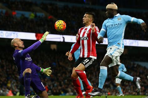 Caballero enjoyed an encouraging display with a string of fine saves against the Saints