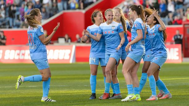 The Red Stars celebrating a goal | Photo: Daniel Bartel/ISI Photos