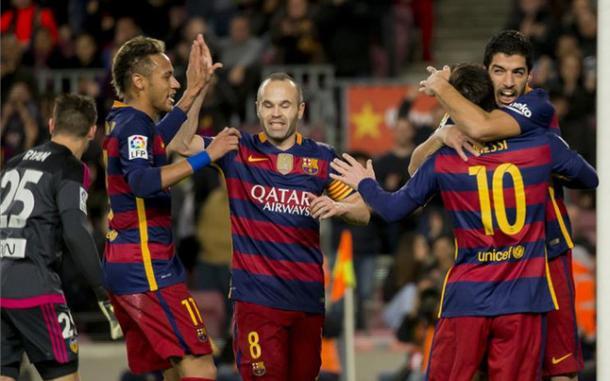 Quarteto do Barça foi mágico mais uma vez (Foto: Getty Images)