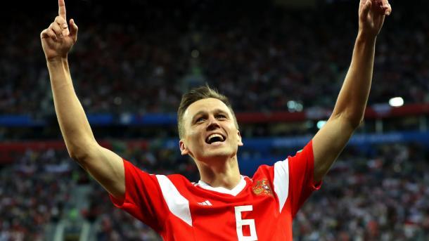 Cheryshev volvió a marcar y llegó a los tres goles | Foto: Getty Images.