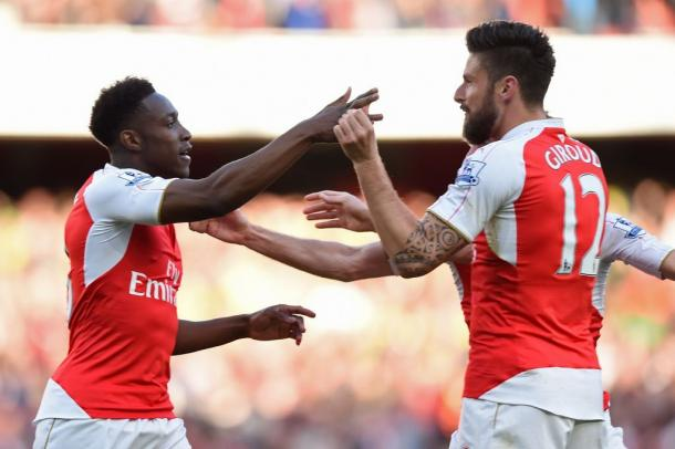 Danny Welbeck celebrates his goal. Source: newsusauk