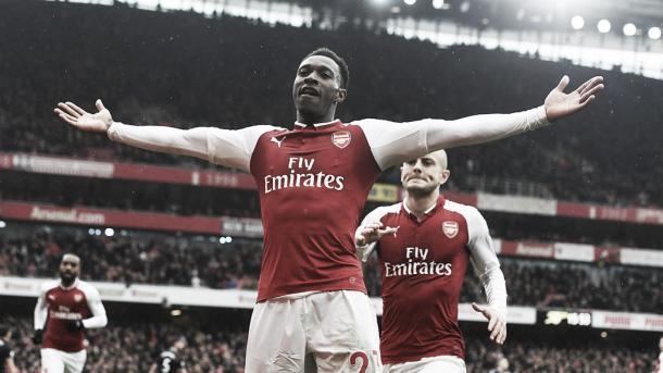 Danny Welbeck celebra el gol ante el Southampton | Fotografía: Arsenal