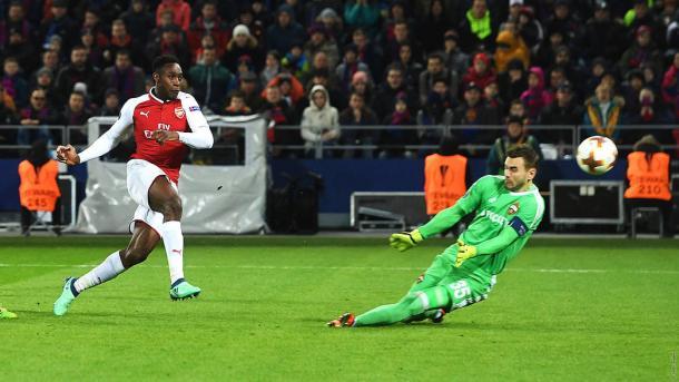 Welbeck anota ante el CSKA de Moscú | Fotografía: Arsenal