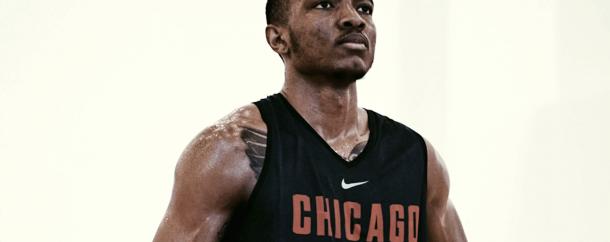 Wendell Carter Jr. en la práctica con Chicago Bulls.   Foto: Sam Smth para NBA.com
