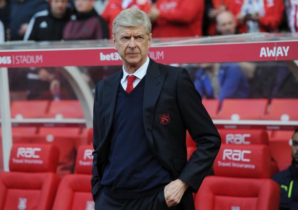 Arsène Wenger durante el partido ante el Stoke | Fotografía: Arsenal