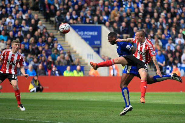 Wes Morgan scored the only goal of the game as Leicester beat Southampton | Photo: Express and Star