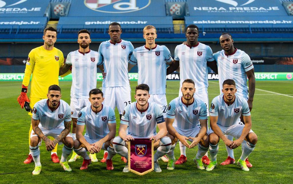 Once titular del West Ham en la Europa League. | Foto: West Ham